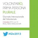 Roma / Giornata del volontariato #Giv2013